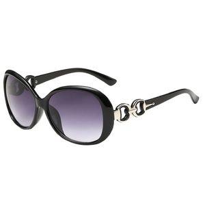 Women Double Ring Decoration  Sunglasses